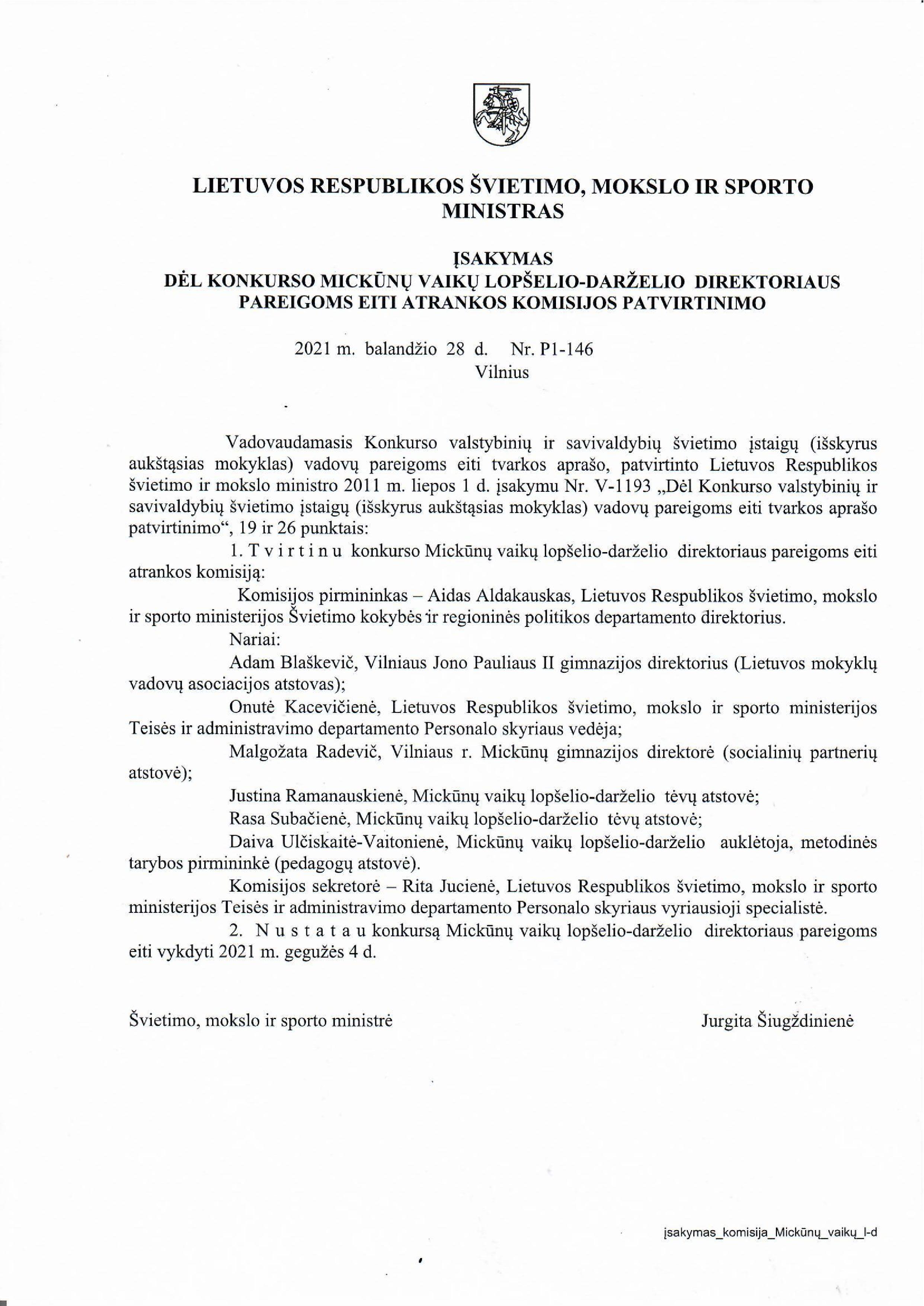 ŠMSM įsakymas dėl komisijos sudarymo-page-001